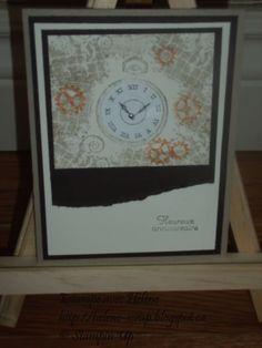 Stampin Up Carte Horloge