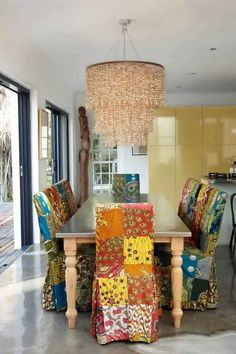Ankara patchwork dining chairs. Too much or? — The Blog | Facebook | Twitter | Pinterest | Instagram