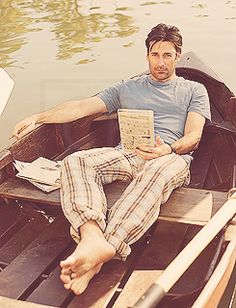 John Hamm- I'd love to be in that boat!!!