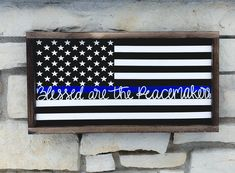 12 Back The Blue Ideas Wooden Flag Thin Blue Line Flag Wooden Signs
