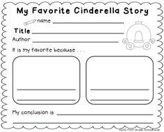 Classroom Freebies Too: Cinderella Literacy Activities