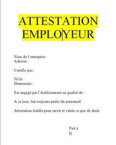 modele attestation employeur pdf, attestation de travail exemple , attestation de travail word ...