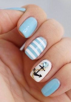 60 CUTE ANCHOR NAIL DESIGNS