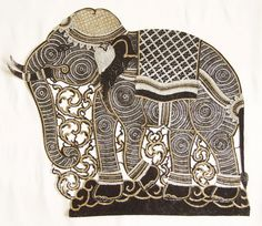 Thai Art- Carving on Leather