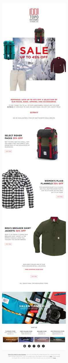 Easy way to design your Email sightly is to use white background and a big discount. From @topodesignsusa