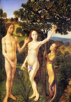 marinni: Адам и Ева. Сад Эдема и грехопадение. Живопись.