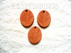 Tree of Life Aromatherapy Essential Fragrance Oil Diffuser Pendant Scent Therapy Ceramic PendantUnglazed Terracotta Clay Jewelry (3.75 USD) by KilnFiredDiffusers
