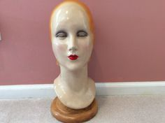 Vintage Art Deco Mannequin Head Katherines Collection 16 in. • $109.00 - PicClick