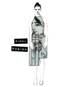 Fashion Sketchbook - final design fashion illustration for fashion collection; fashion portfolio // Ella Corsini-Riley
