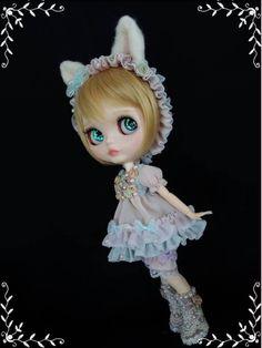 ブライス☆ふんわり猫ちゃんのドレスセット☆ブー... - ヤフオク!