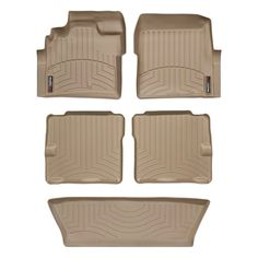 "WeatherTech 45094-1-2-3 Series Tan FloorLiner - All Rows - FloorLiner(TM) In the quest for the most advanced concept in floor protection, the talented designers and engineers at WeatherTech(R) have worked tirelessly to develop the most advanced floor protection available today! The WeatherTech(R) FloorLiner(TM) accurately and completely lines the interior carpet giving ""absolute interior protection(TM)""! The WeatherTech(R) FloorLiner(TM) lines the interior carpet up the front, back and even…"