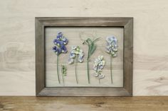 Sweet Pea Wall Art Framed Wildflowers Pressed Flowers Cottage Style Decor