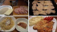 Střapaté kuřecí řízky pečené na plechu – RECETIMA Oreo Cheesecake, Pampered Chef, Poultry, Mashed Potatoes, Cereal, Food And Drink, Rice, Breakfast, Ethnic Recipes