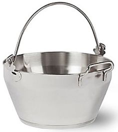 Large 8 Litre Stainless Steel Maslin Pan Jam Pan Preserve Pan & Handle Bucket #Zodiac