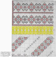 FolkCostume&Embroidery: Costume and Embroidery of Neamț County, Moldavia, Romania Folk Embroidery, Cross Stitch Embroidery, Embroidery Patterns, Cross Stitch Borders, Cross Stitching, Cross Stitch Patterns, Embroidered Clothes, Traditional Outfits, Needlework