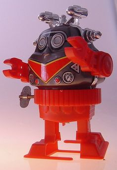 Vintage Wind-Up Toy Robot.