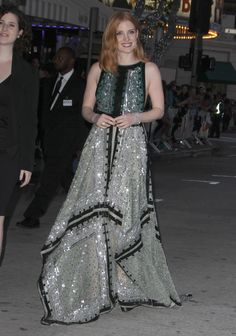 Jessica Chastain arrives for the premiere of Universal Pictures' 'The Huntsman: Winter's War' at the Regency Village Theatre in Westwood, California on April 11, 2016.