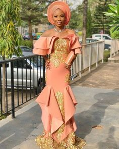 Aso Ebi Styles That Are Trending Right Now - Sisi Couture African Fashion Designers, African Inspired Fashion, African Men Fashion, Africa Fashion, Native Fashion, Fashion Women, African Attire, African Wear, African Dress