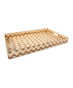 Two-Tone Zigzag 24'' Tray by Core Bamboo on #zulily