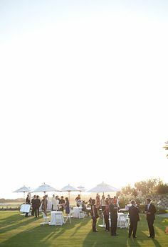 A Classic, Intimate Outdoor Wedding 19 Restaurant, Black Tie Wedding, Lush Green, Beautiful Sunset, Celebrity Weddings, Real Weddings, Lawn, Brides, Dolores Park