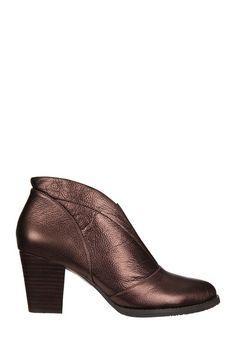 Boots à talons bronze cuir Zone Esska sur MonShowroom.com
