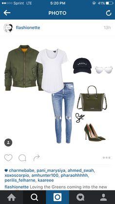 Green casual via Flashionette