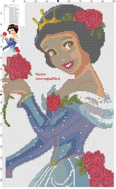Princess Snow White cross stitch pattern (click to view)