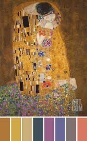 Image result for gustav klimt colour palette