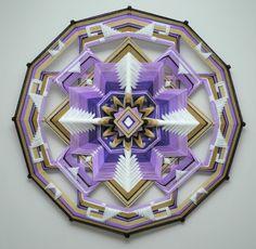 Peace Within, a 24 inch, wool yarn, Ojo de Dios, by Jay Mohler by JaysMandalas on Etsy