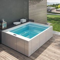 Luxus Design Whirlpool GT-Spa You are in the right place about Rooftop Garden decor Here we of Small Swimming Pools, Small Pools, Swimming Pool Designs, Piscina Spa, Mini Piscina, Hot Tub Backyard, Small Backyard Pools, Modern Backyard, Jacuzzi Outdoor