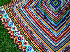 HOLY SMOKES!  This square granny with added granny border is gorgeous. More pics on the blog.