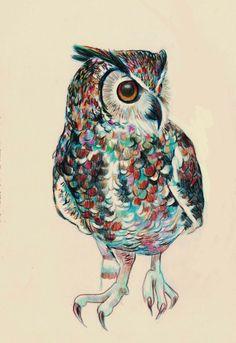 'Midnight Owl' by Ángela Pérez Castrillón