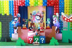 Super Mario Bros - Muita Festa Decorações