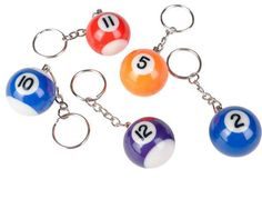 "key chain pool ball 1.25"" Case of 576"