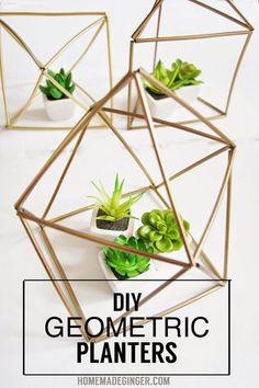 Make It: DIY Geometric Planters » Curbly | DIY Design Community