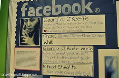 Facebook bulletin boards. Good way to introduce a topic? Introduce the picture, no one guesses it, introduce facts, no one guesses, introduce name? Then people need to guess the topic? Could be fun! But may be labour intensive, with different classes and topics. Definitely something to keep in mind though