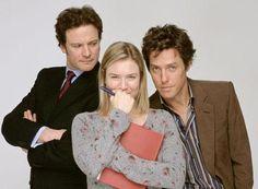 """Bridget Jones"" Cast : Colin Firth, Renee Zellweger and Hugh Grant Hugh Grant, Colin Firth, Bridget Jones Books, Bridget Jones Baby, Renee Zellweger, Patrick Dempsey, Chick Flicks, Love Movie, I Movie"