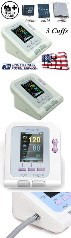 Blood Pressure Monitoring: Usa Stock,Digital Blood Pressure Monitor,Contec08a Color Lcd Display 3 Free Cuff BUY IT NOW ONLY: $57.99