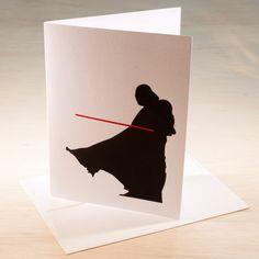 Darth Vader Hand Screen Printed Card by ChrisVoellerArt on Etsy