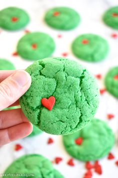 Grinch Crinkle Cooki