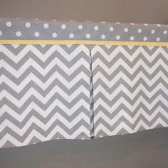 48 to 72 Custom Gray chevron Box Pleat by babymilanbedding on Etsy, $75.00