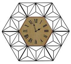 Duży zegar loft modern industrialny nowoczesny 72 cm 43-219