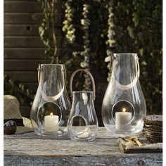 Maria Berntsen has designed this mobile light source in glass and full-grain leather to create that distinctive Scandinavian atmosphere anywhere. The lanterns are available in both transparent and frosted glass and a beautiful alone or in combination. A great gift idea – not least for yourself!  #holmegaard #designwithlight #transparentlantern