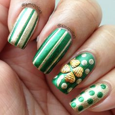 amcpolish st patrick's day #nail #nails #nailart