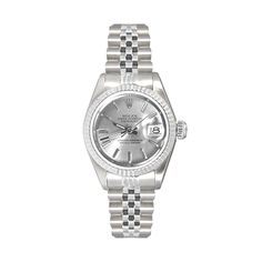 See Jewelers  www.seejewelers.com  Ladies' Steel Rolex Datejust  PRODUCT NUMBER: SW000000765  Oyster perpetual Rolex Lady Datejust model 69174. Silver stick dial. With Stainless Steel Engine Turned Flured Bezel. Stainless steel jubilee bracelet.