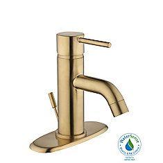 Robinets de lavabo de salle de bains | Home Depot Canada Tub And Shower Faucets, Bathroom Sink Faucets, Shower Tub, Contemporary Baths, Modern Baths, Glacier Bay Faucets, Home Depot, Gold Faucet, Bathroom Design Layout