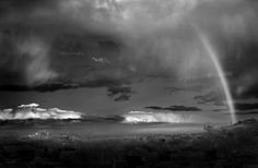 Mitch Dobrowner. You always see rainbows in color... Kind of cool to see one in black and white.