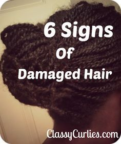 ClassyCurlies.com: Your source for natural hair and beauty care: Natural Hair: 6 Signs of Damaged Hair