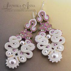 583  Anna Lipowska LiAnna Biżuteria sutasz soutache www.lianna.blox.pl #ślub #wesele #bridal #ekskluzywne #eleganckie Soutache Earrings, Ring Earrings, Shibori, Washer Necklace, Handmade Items, Jewelry Design, Anna, Beads, My Love