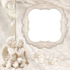 Transparent Wedding Frame with Angels
